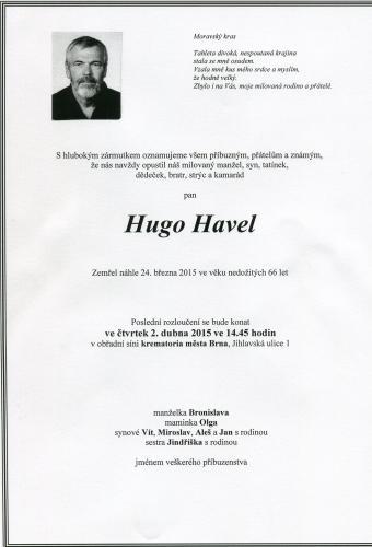 Zemřel Hugo Havel, byvaly člen Speleologického klubu v Brně